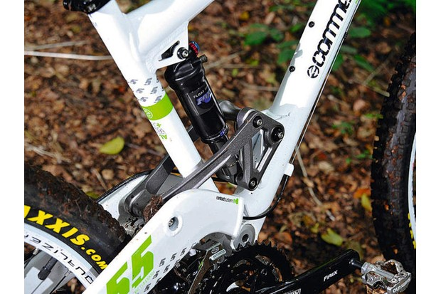 Commencal's Meta series bikes use a rocker activated single pivot design