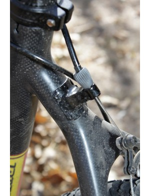 The rear brake boss also offers a barrel adjuster