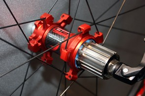 The new Fulcrum Red Carbon XRP rear hub also gets a titanium freehub body