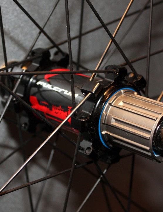 Hub flanges are pushed out wide to take advantage of the Red Heat's150mm OLD through-axle dimensions