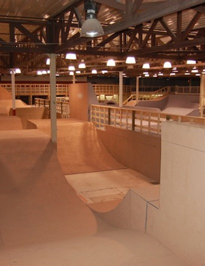 The indoor park has something for everyone; pictured: expert rhythm jumps