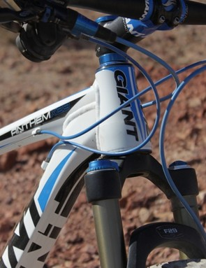 The OverDrive head tube gives the Anthem X 29er great steering precision