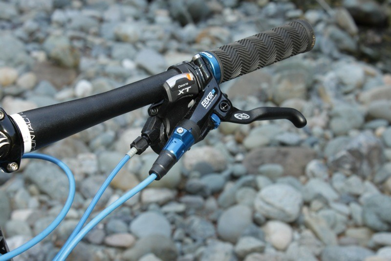 Giant's bikes feature matched cable housing, brake lines and custom anodization