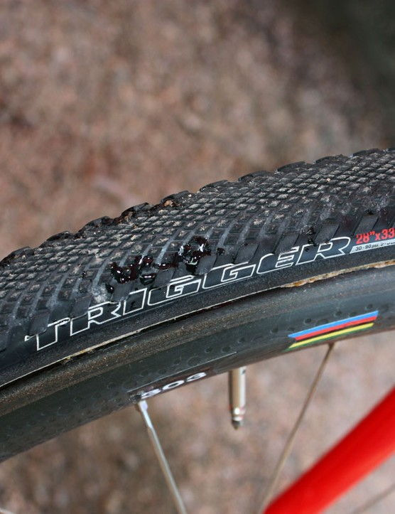 The Trigger is the fastest of Specialized's new 'cross tubulars, with a central file pattern that gets progressively taller as it approaches the aggressive side knobs
