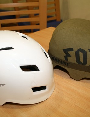 Fox's Transition (left) and Transition Hard Shell (right) helmets