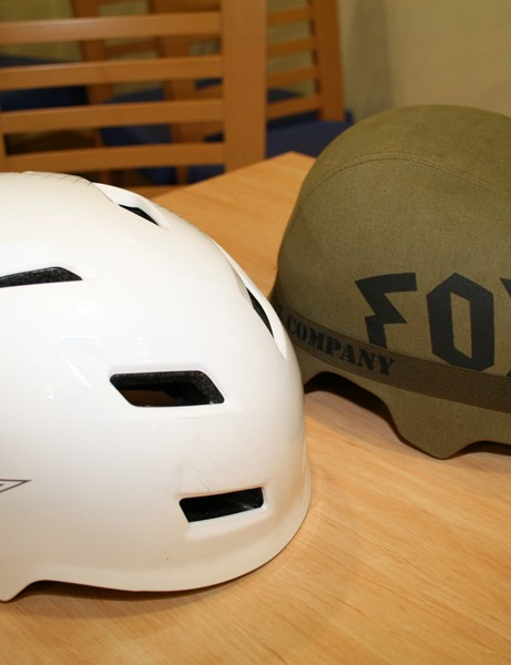 Fox's Transition (left) and Transition Hard Shell (right) helmets