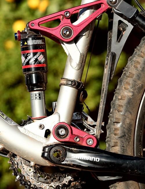 Zobop with RockShox Monarch RT3 rear shock