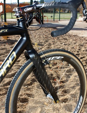 Leopard Cycles have beefed up the fork relative to the CX-1 for better steering performance