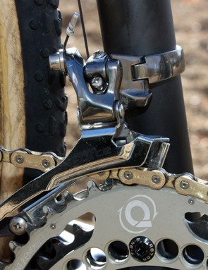 SRAM Force derailleurs are fitted front and rear