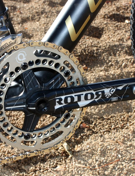 Joachim Parbo (KCH-Leopard Cycles) has switched from SRAM to Rotor cranks this year