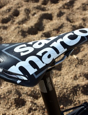 Joachim Parbo (KCH-Leopard Cycles) plants himself atop this well-worn Selle San Marco saddle