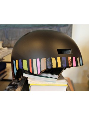 Giro have teamed up with Paul Smith to produce three special edition versions of their Section pisspot helmet. This is the Multi Stripe