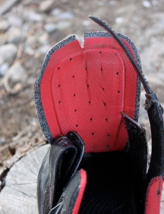 The shoe's tongue has ample foam padding for comfort