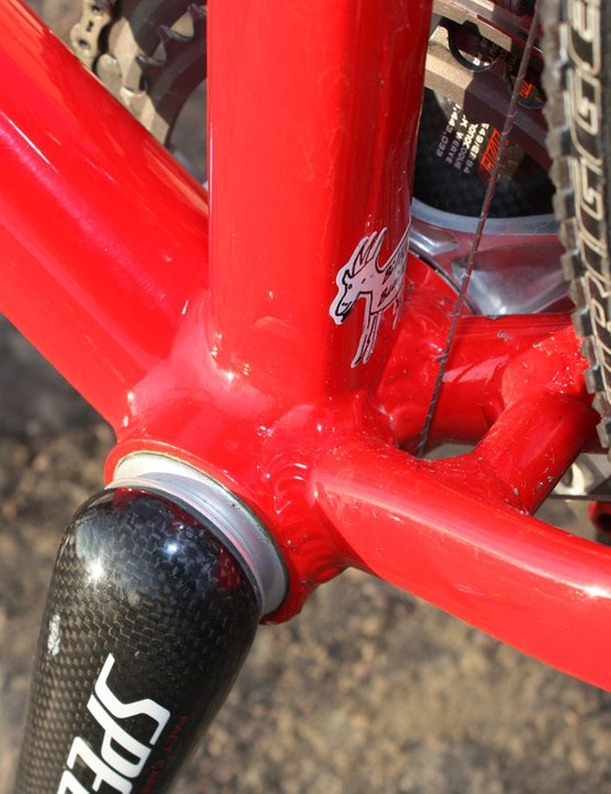 The oversized BB30-compatible bottom bracket shell houses Specialized's own carbon crankset