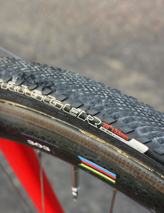 Todd Wells (Specialized) is currently testing three different sets of new Specialized 'cross tubulars set to debut next season