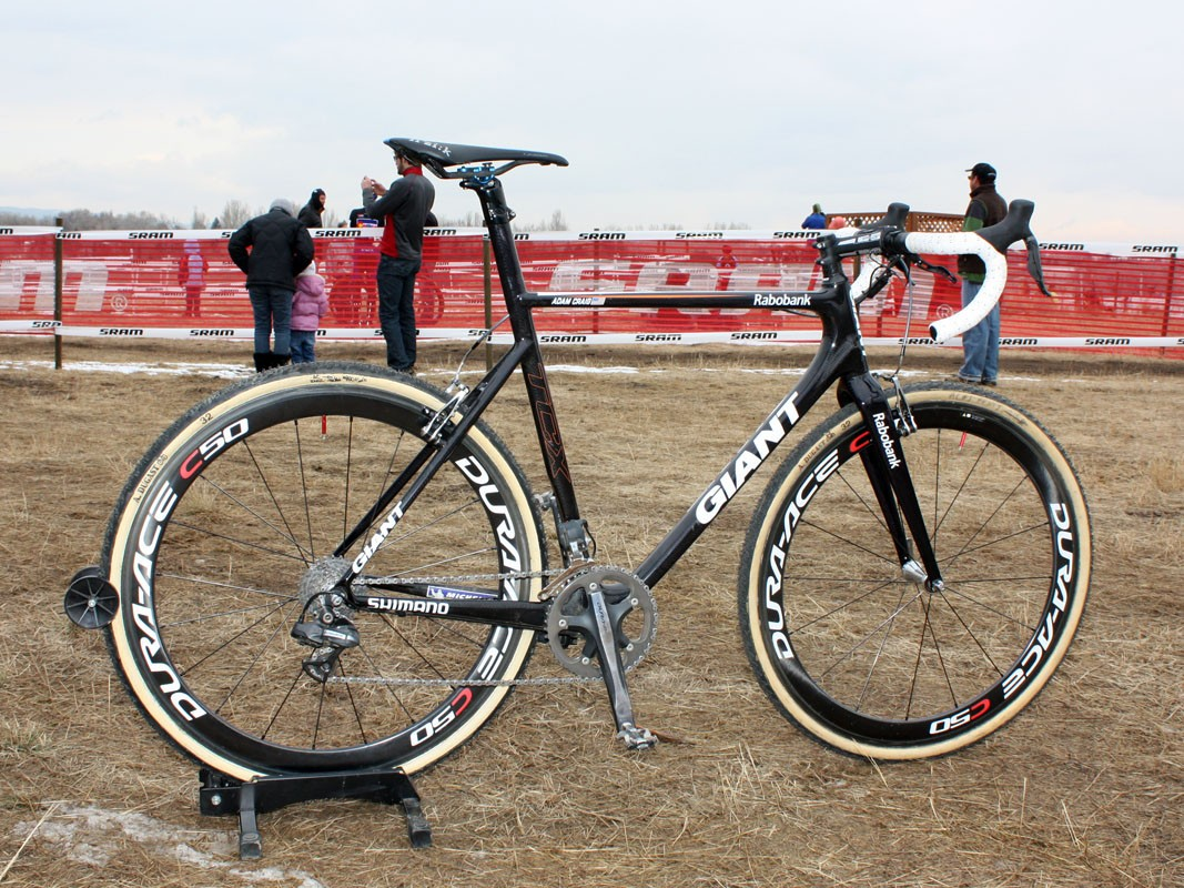 Adam Craig (Rabobank-Giant) is racing on a new carbon fiber Giant TCX Advanced SL