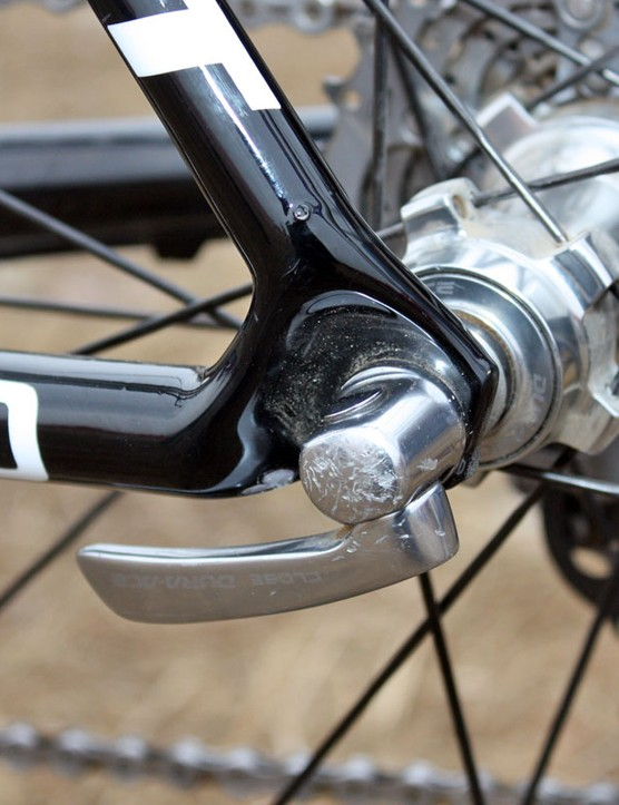 Despite the smooth look, the dropouts on the TCX Advanced SL are alloy for greater durability