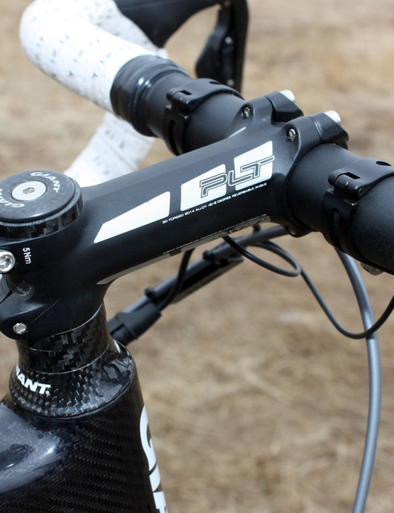 Adam Craig (Rabobank-Giant) goes the safe route with an aluminum bar and stem