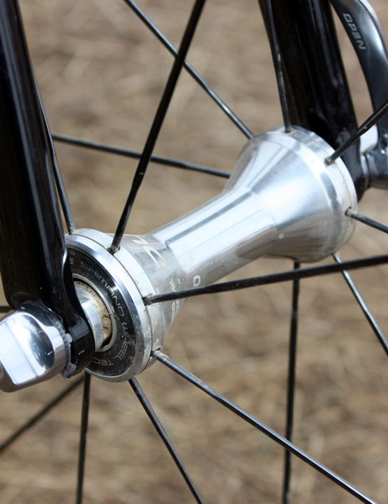Shimano's hubs aren't known for being the lightest but the ample sealing should hold up well to power washing