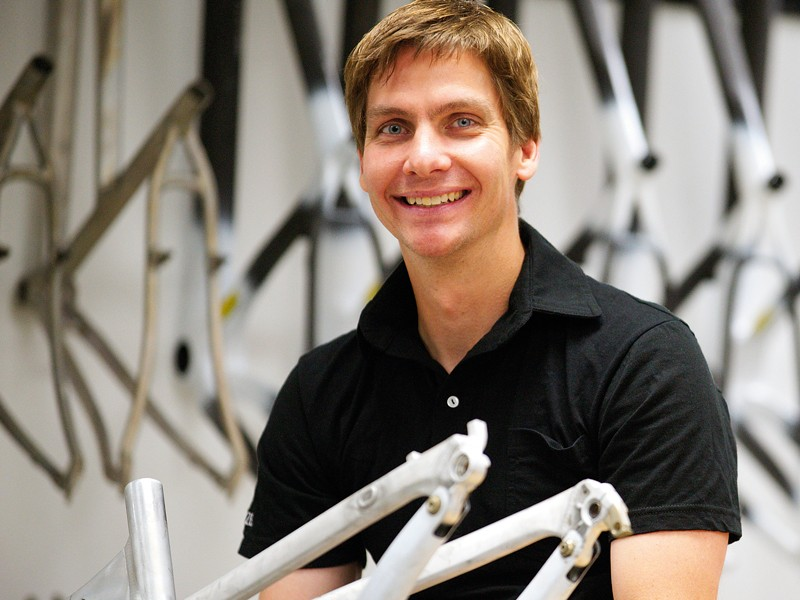 Brandon Sloan is Specialized's head of R&D. He sees 29ers as a choice, and not an either/or one