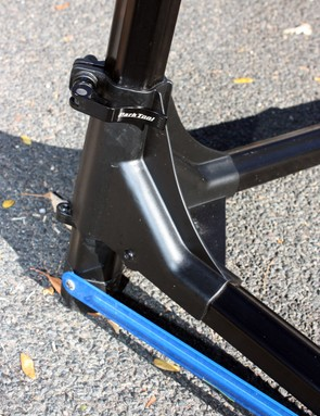 The new fold-out leg setup is far easier to deal with than on the old PRS-15 with both legs securely fastened together with the sliding aluminum base and a single quick-release lever to lock it all in place