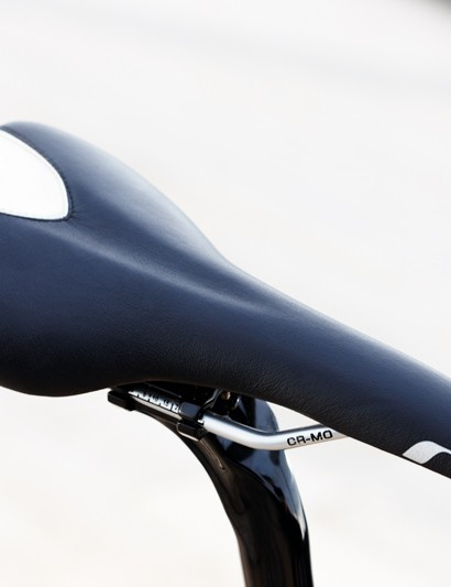 The narrow saddle lets you know you're on a performance oriented not pootlingintended machine