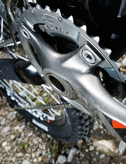 SRam's XX 2x10 crankset may take some getting used to  compared to a normal triple