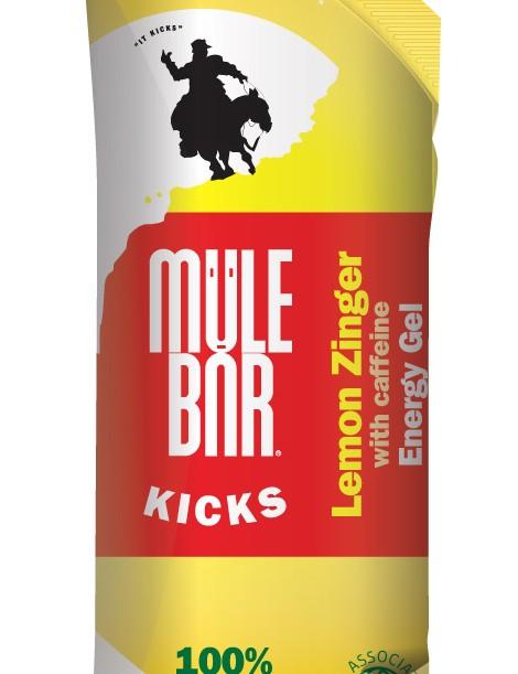 MuleBar KICKS Lemon Zinger energy gel