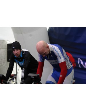 Matthew Walters (right) was able to cover the mile quicker than Olympic gold medallist Brad Wiggins