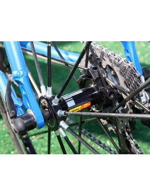 Mavic's R-Sys Premium wheels are suitably light for 'cross racing's frequent accelerations