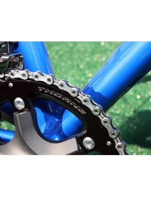 The outer chainring comes courtesy of Stu Thorne, proprietor of Cyclocrossworld.com