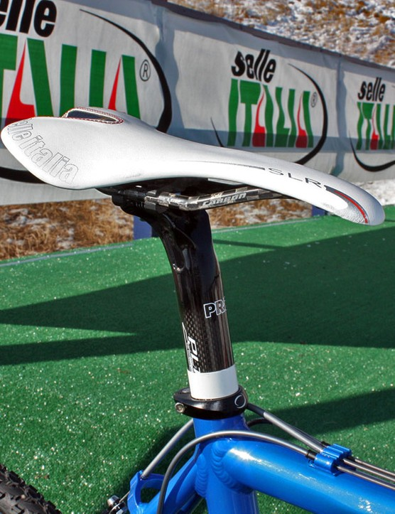 Georgia Gould (Luna) uses a carbon-railed Selle Italia SLR saddle