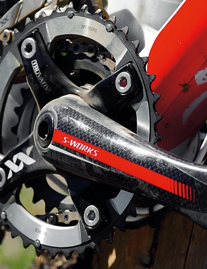 carbon has found its  way into every aspect  of the S-Works' spec