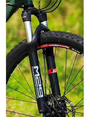 The air-sprung RST fork offers decent performance