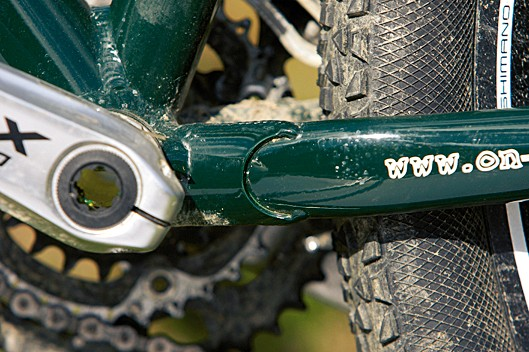 Chainstay gussets add sufficient extra strength to let the Scandal frame do without a chainstay bridge for mud clearance
