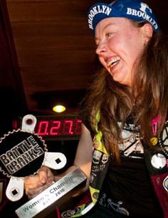 Andie 'PandA' Strießnig celebrates her victory.