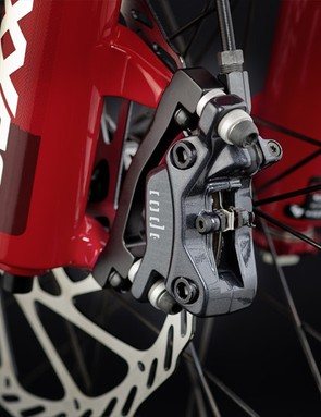 The Canyon Torque FRX 9.0 comes with Avid Code R brakes