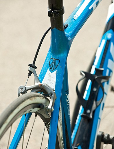 The frame uses TCT – Trek Carbon Technology – a process that, according to Trek, has made the Madone 5.9 15 per cent stiffer than 2010 frames