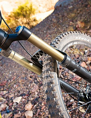 The rear suspension may disappoint, but the Fox 32 TALAS fork will help you over the bumps without adding too much extra weight