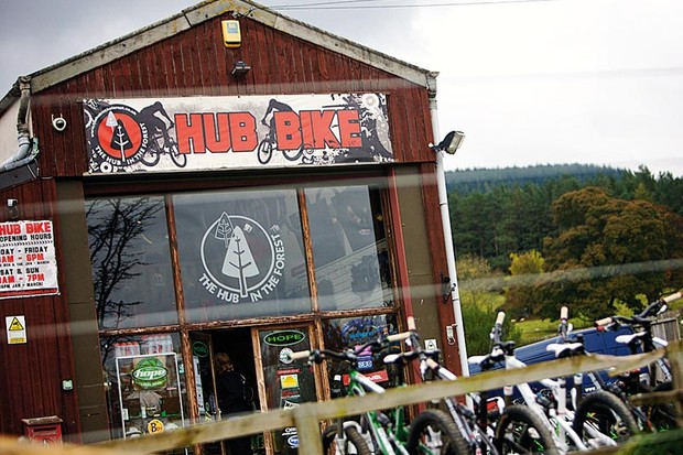 The Hub Bike shop and Hub Cafe at Glentress will close when the current lease expires in March 2012