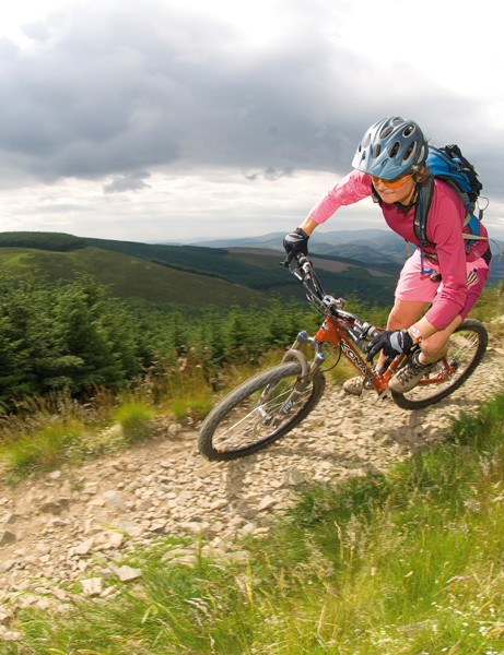 Emma puts part of The Hub's success down to the fact that both she and Tracey (pictured) are mountain bikers