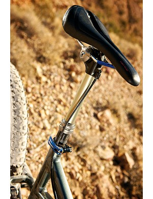 We had some pedalling grind from this one, but otherwise Specialized's Command seatpost is a great match to the bike