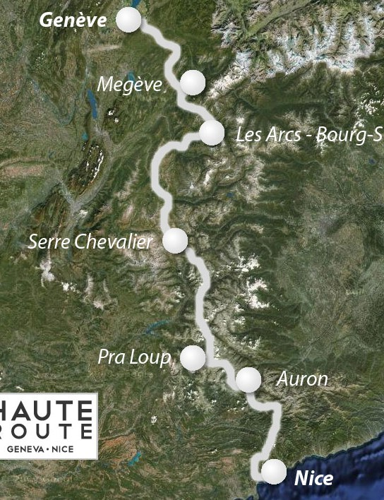 The Haute Route will take riders from Geneva, Switzerland to Nice, France