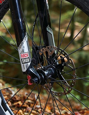 The frame is crying out for a fork with a bolt-through axle