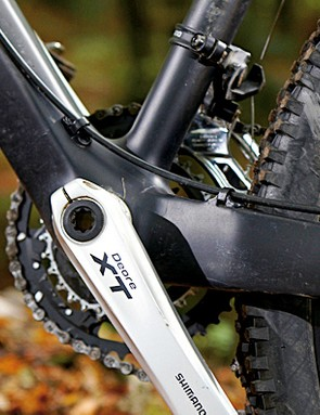 The whole bike is kitted out with Shimano's Deore XT groupset