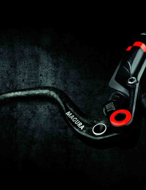 Magura's new MT8 with Carbotecture master cylinder and Carbolay lever