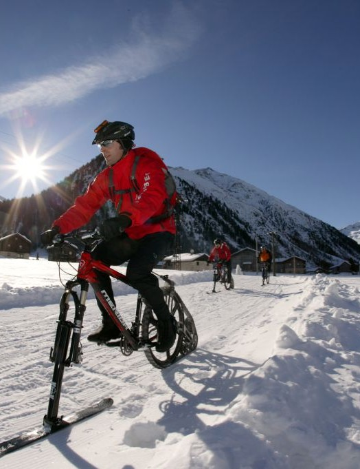The K-Trak: the answer to biking in the snow?
