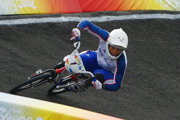 Shanaze Reade in action at the Beijing 2008 Olympic Games