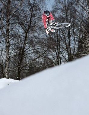 Adam Glosowic takes Kross's new prototype dirt/street bike for a play in the snow