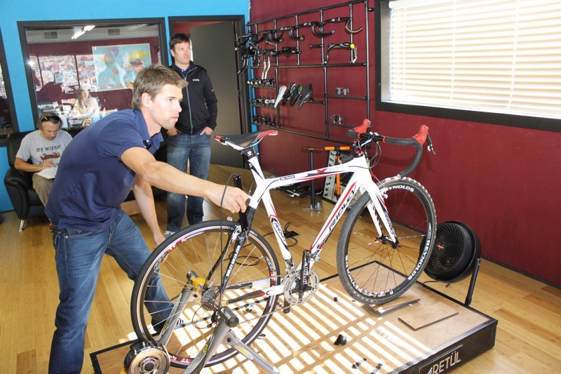 Steinmetz logs our new fit into Retul's software program using the Zin tool